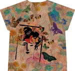 butterfly woman t-shirt (back)