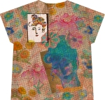 butterfly woman t-shirt (front)